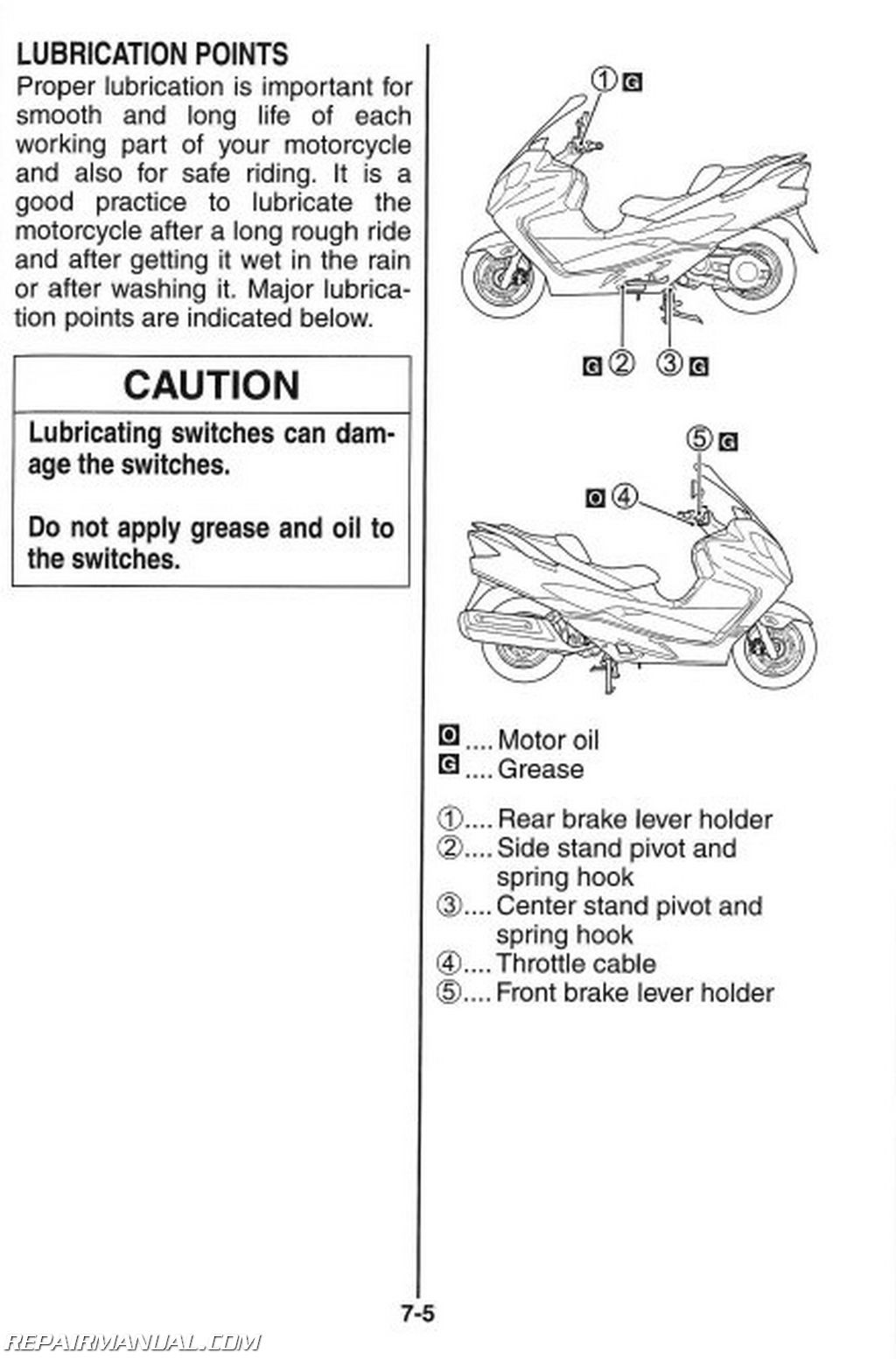 Suzuki An400k8 Burgman Scooter Owners Manual
