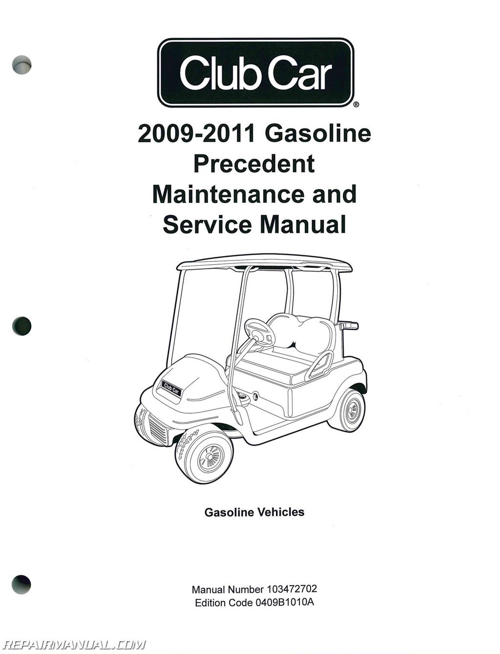 Club Car Gasoline Precedent Maintenance And