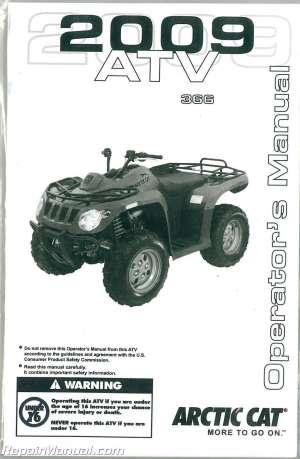 2009 Arctic Cat 366 ATV Owners Manual