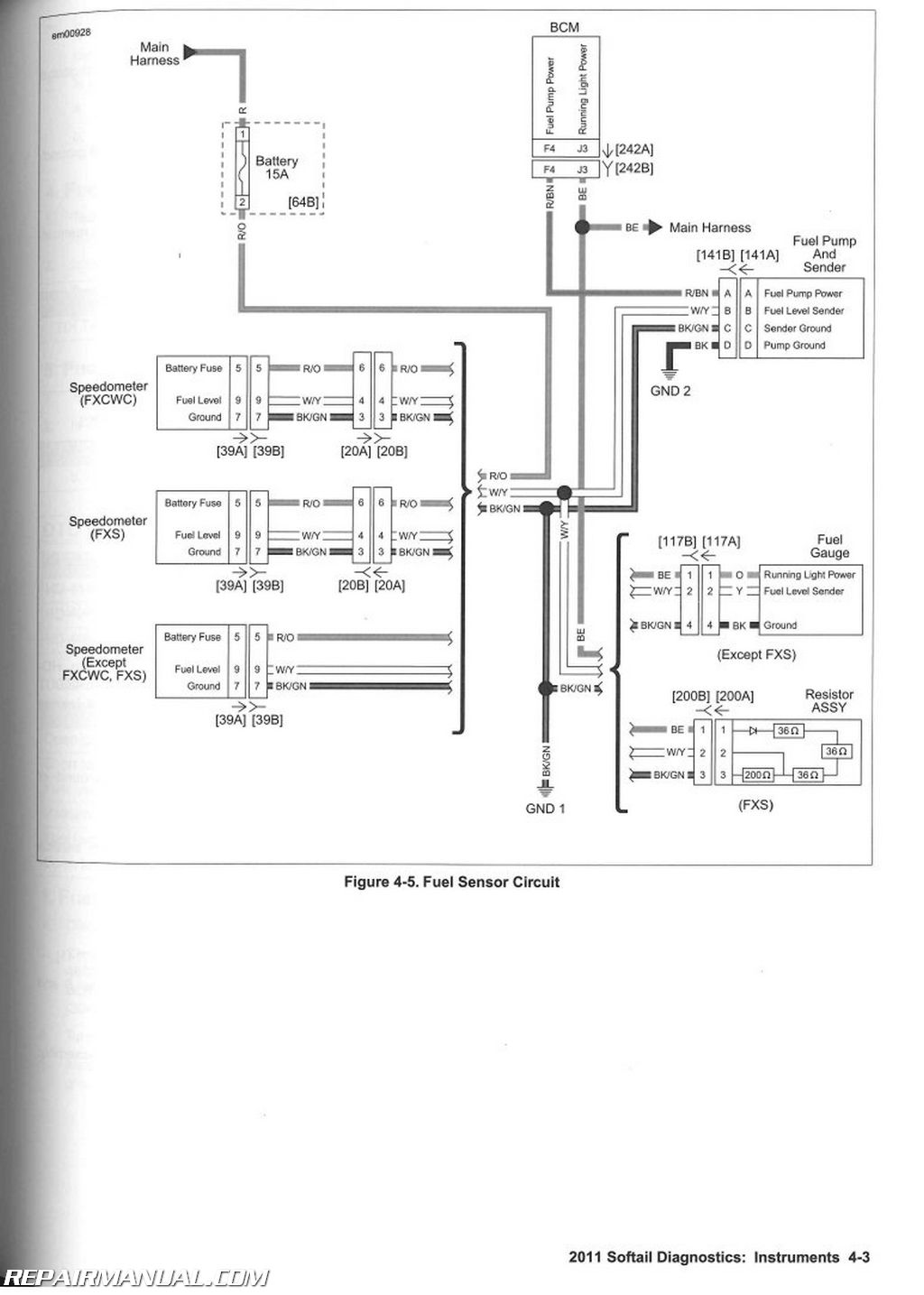 Harley Davidson Motorcycle Wiring Diagrams Fuel Pump