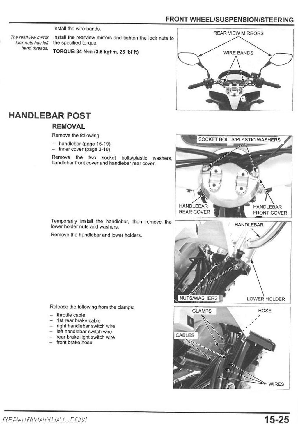 Honda Pcx125 Scooter Service Manual By Repairmanual