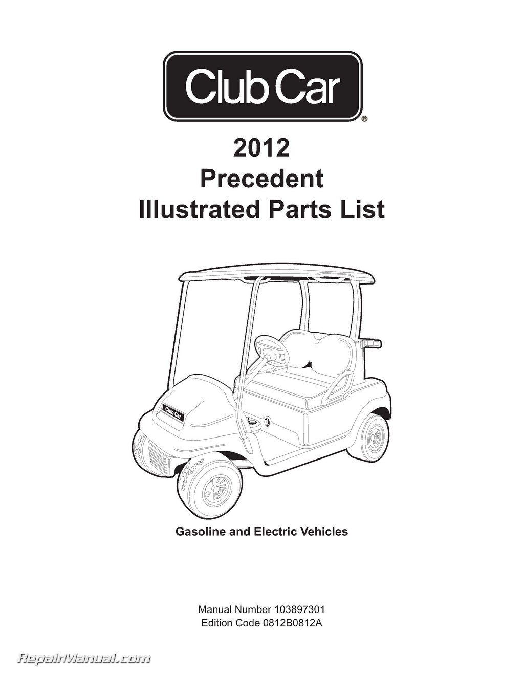 Club Car Gasoline Amp Electric Precedent Golf Cart