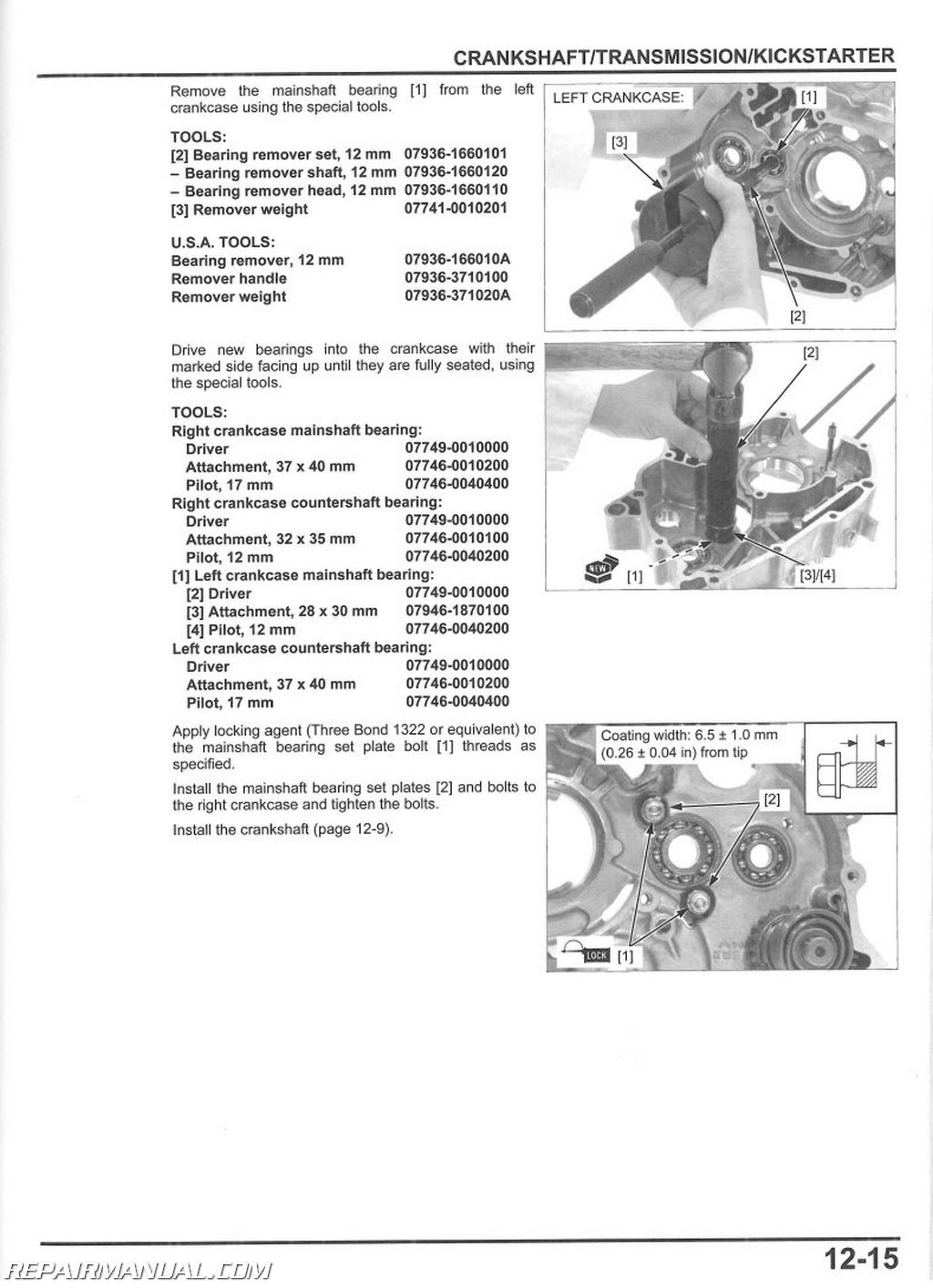 Honda Crf110f Motorcycle Service Manual