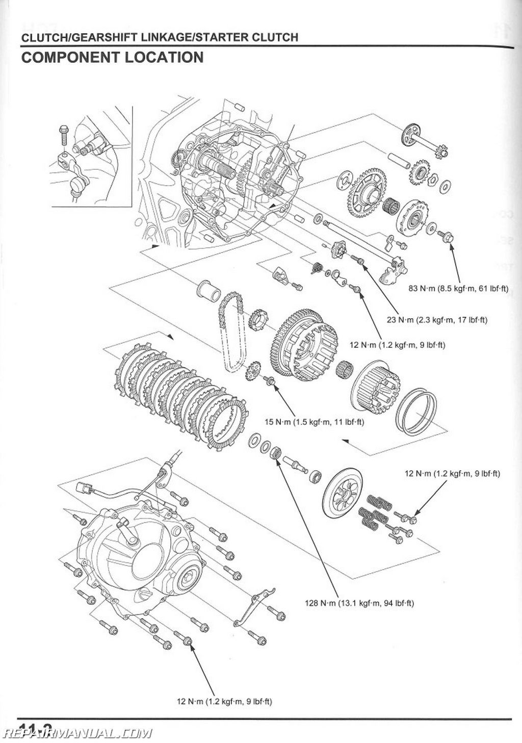 Honda Cbr650 F Fa Motorcycle Service Manual