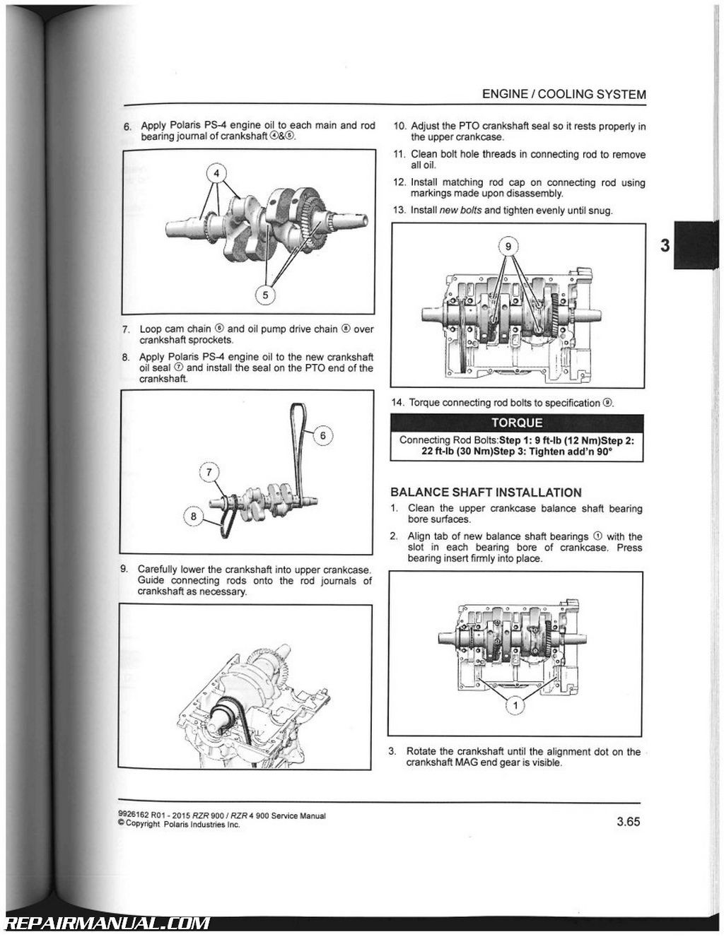 2013 Polaris Sportsman 550 Engine