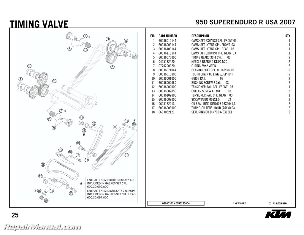 Ktm 950 Superenduro R Engine Spare Parts Manual