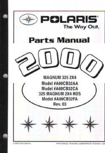 2000 Polaris Magnum 325 2x4 Atv Parts