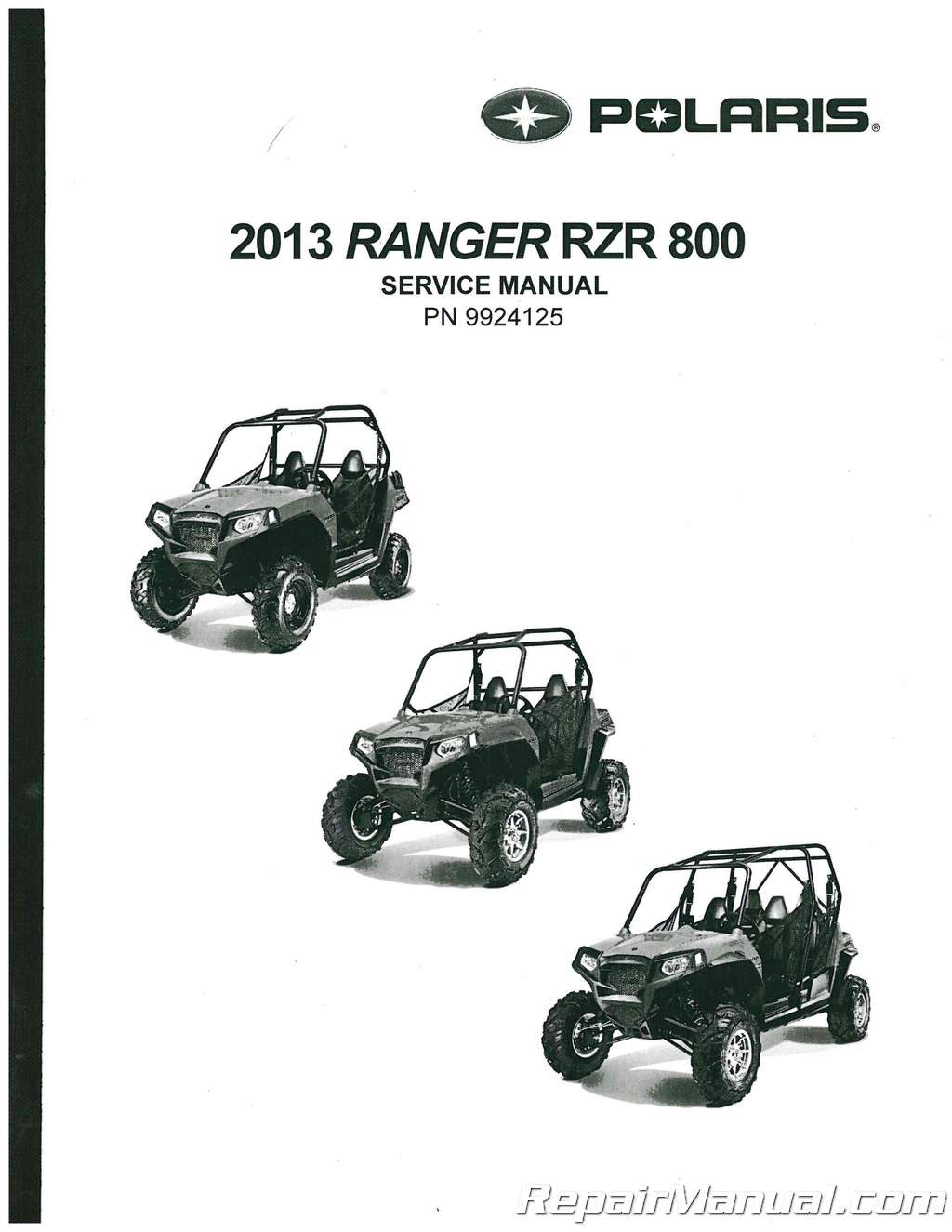 Polaris Ranger Rzr 800 Service Manual