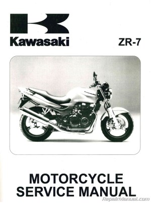Kawasaki ZR750F ZR7 Motorcycle Manual 19992003