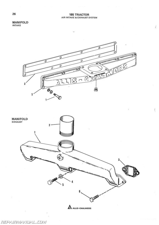 Allis Chalmers 185sel Parts Manual