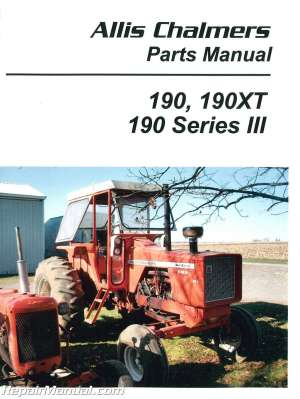 Allis Chalmers 190 190XT 190 Series III Tractor Parts Manual