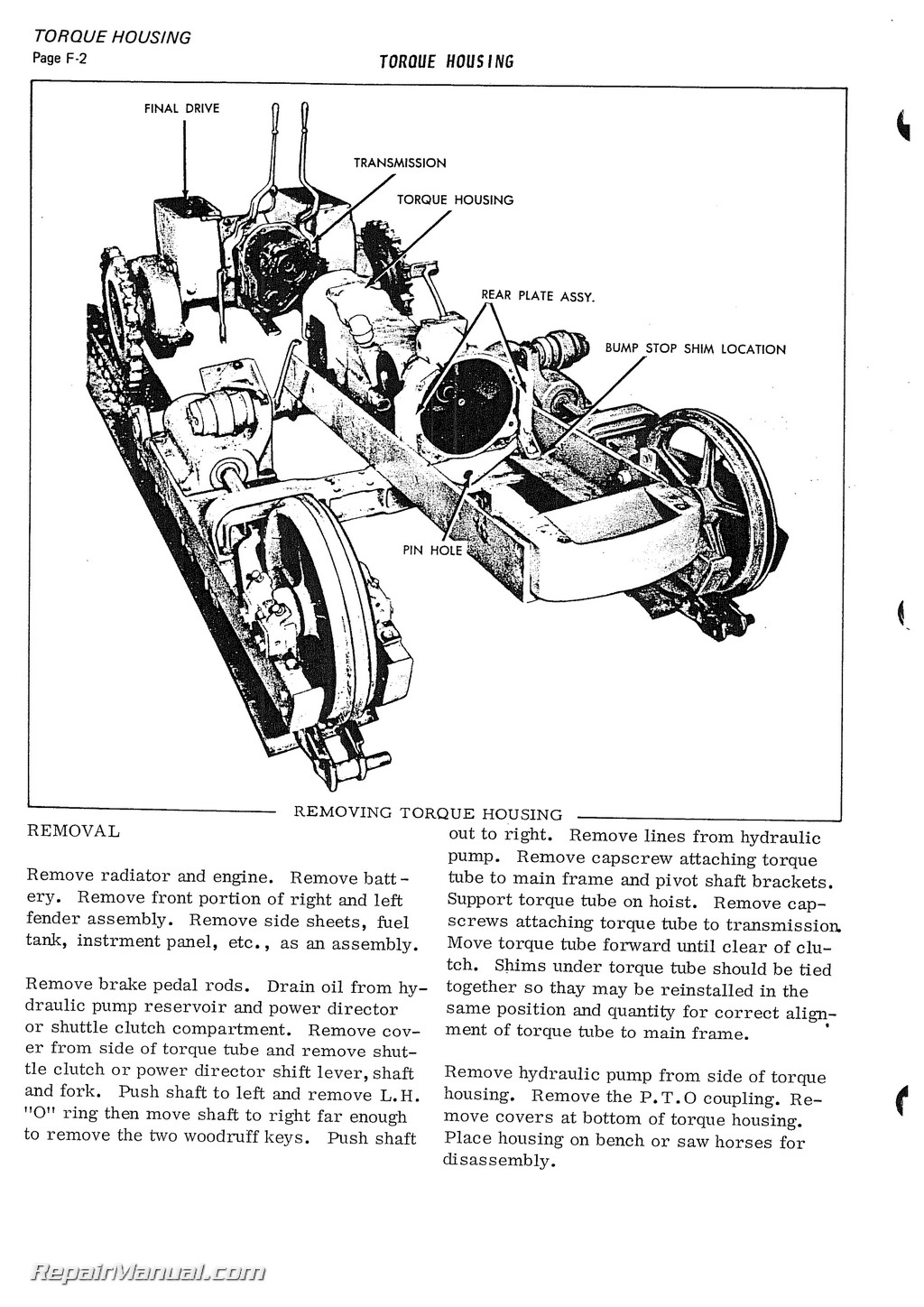 Allis Chalmers H3 Hd3 Tractor Service Manual