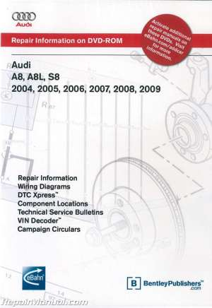 Audi A8 A8L S8 20042009 Repair Manual DVDROM