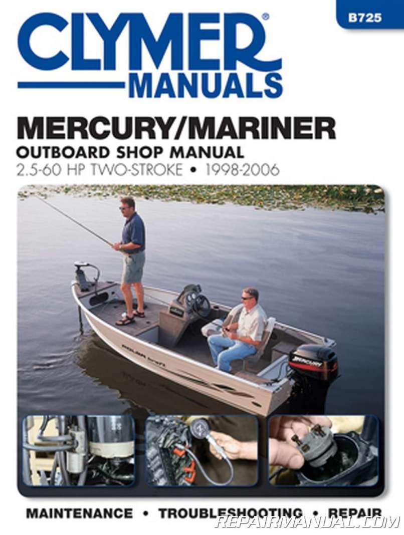 1998 2006 Mercury Mariner 25hp 60hp Outboard Boat Engine Repair