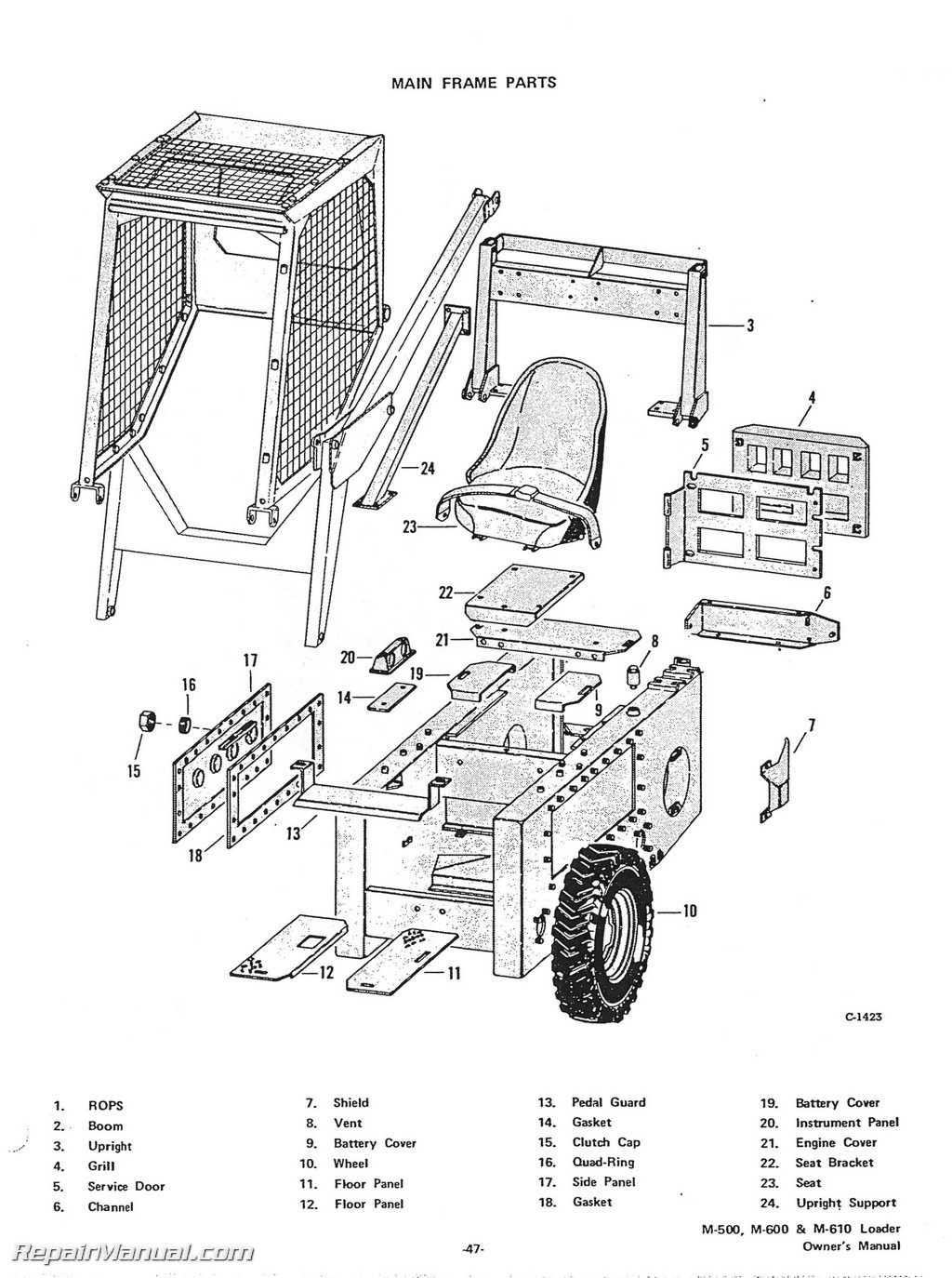 Bobcat Skid Steer Part Diagram