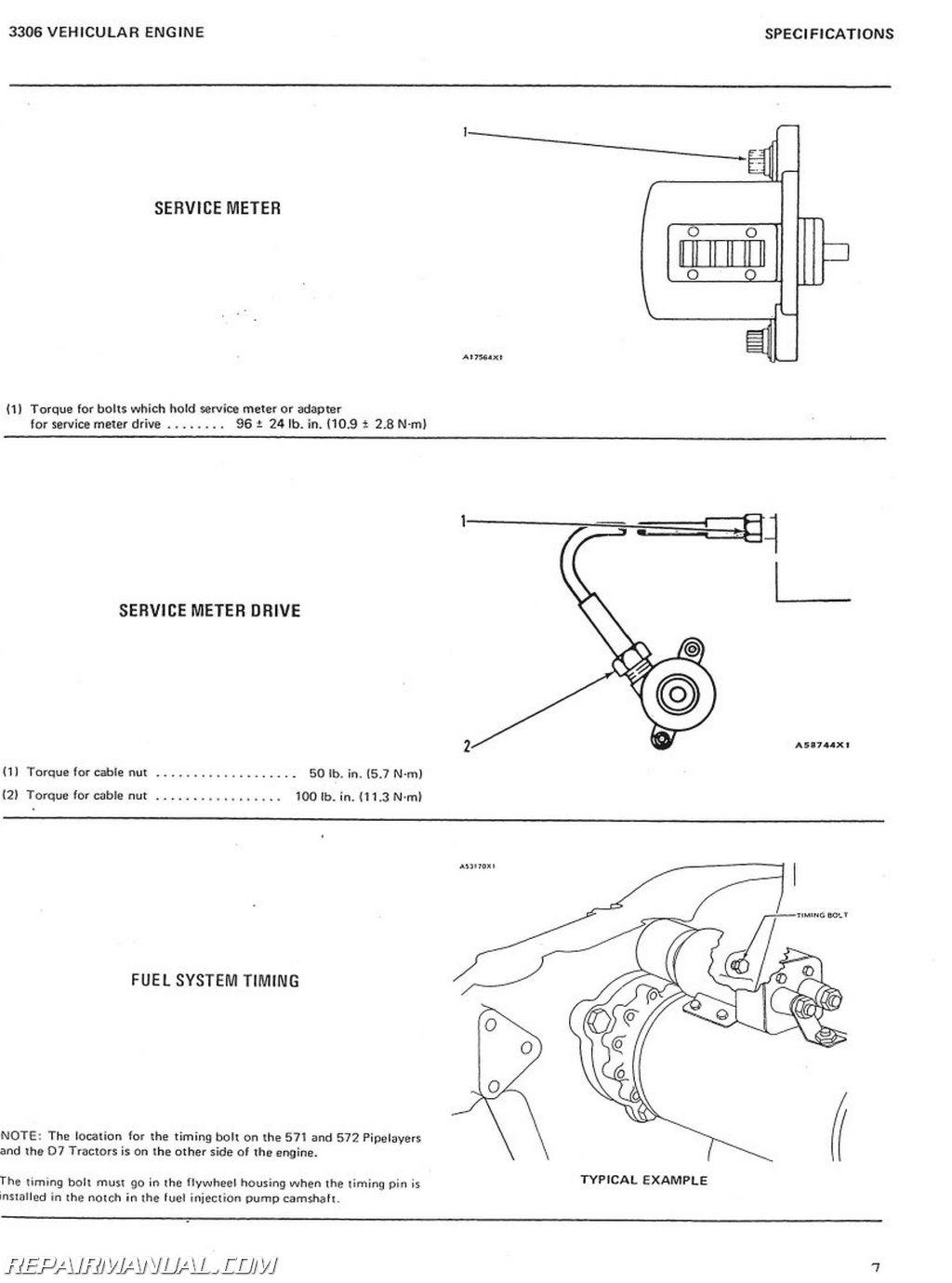 Caterpillar Grader 12f And 14e Service Manual
