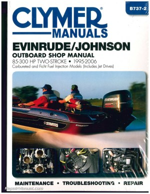 EvinrudeJohnson 85300 hp 19952006 Clymer Outboard