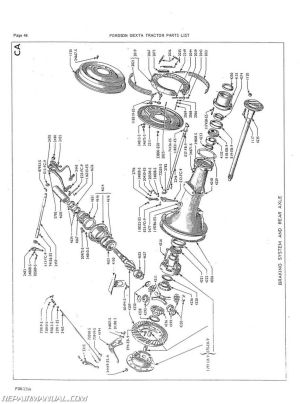 Fordson Dexta And Super Dexta Parts Manual