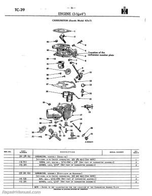 Farmall Super A AV A1 AV1 Tractor Parts Manual