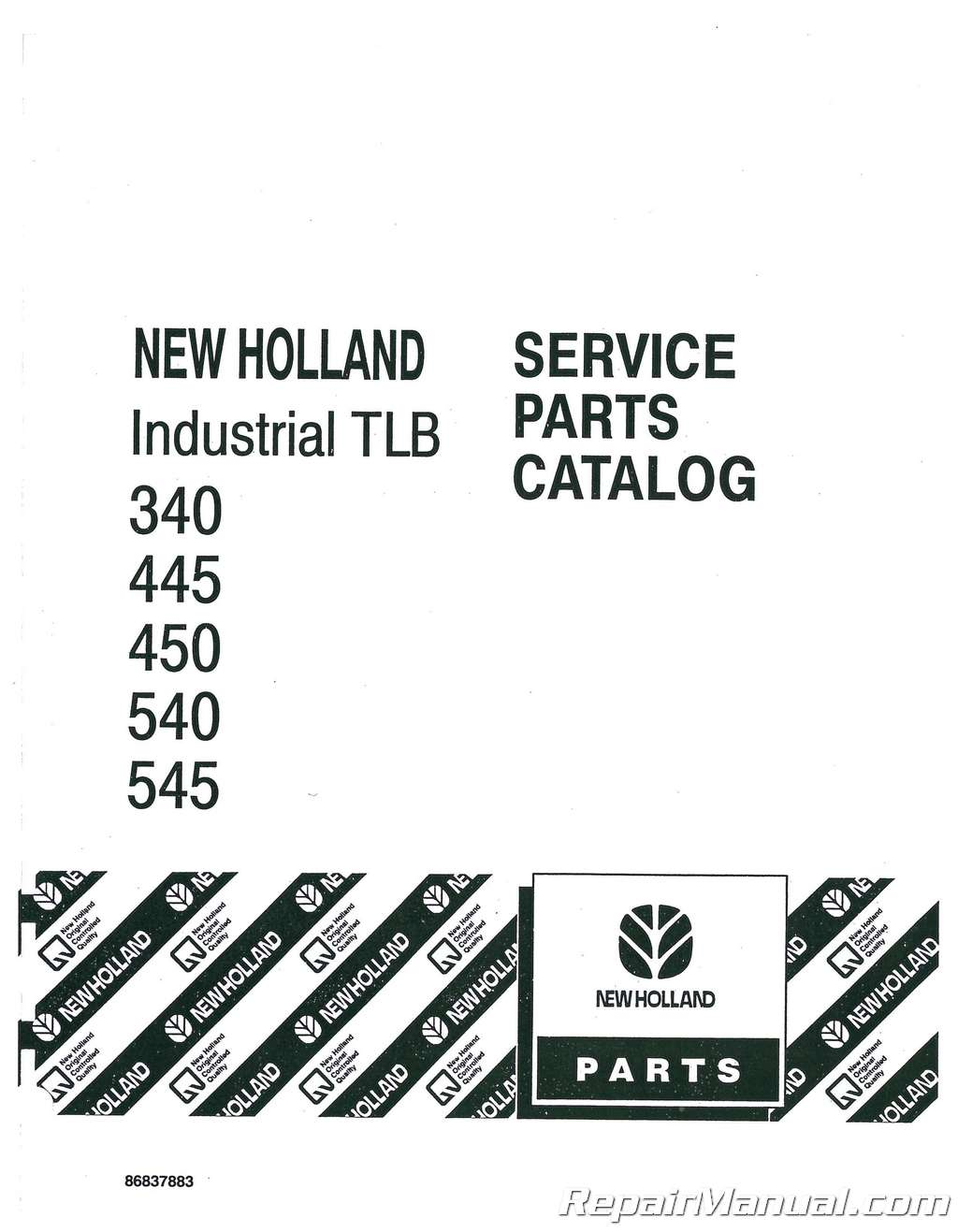 Ford 340 445 450 540 545 Tractor Parts Manual