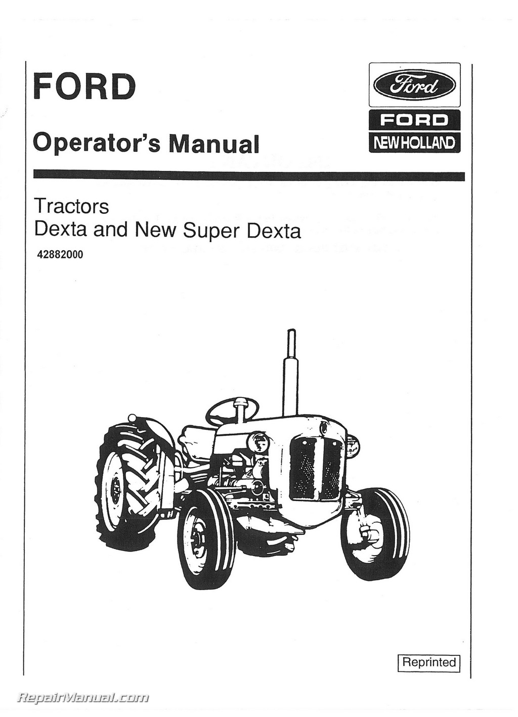 Fordson Dexta Super Dexta Operators Manual