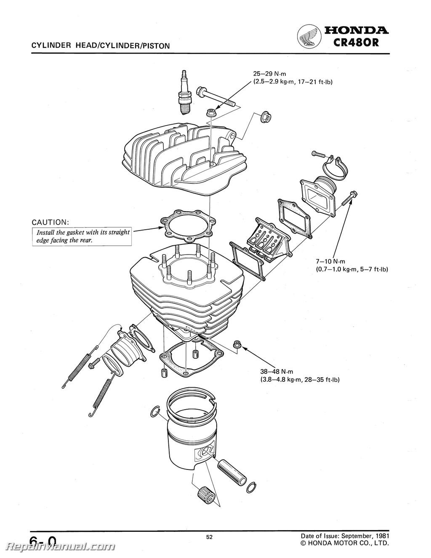 Honda Cr 480 Motorcycle Shop Manual