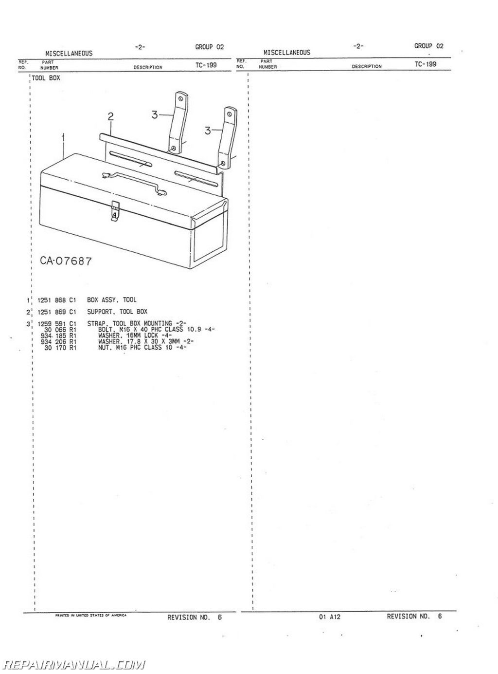International Harvester Dsl Chassis Parts Manual