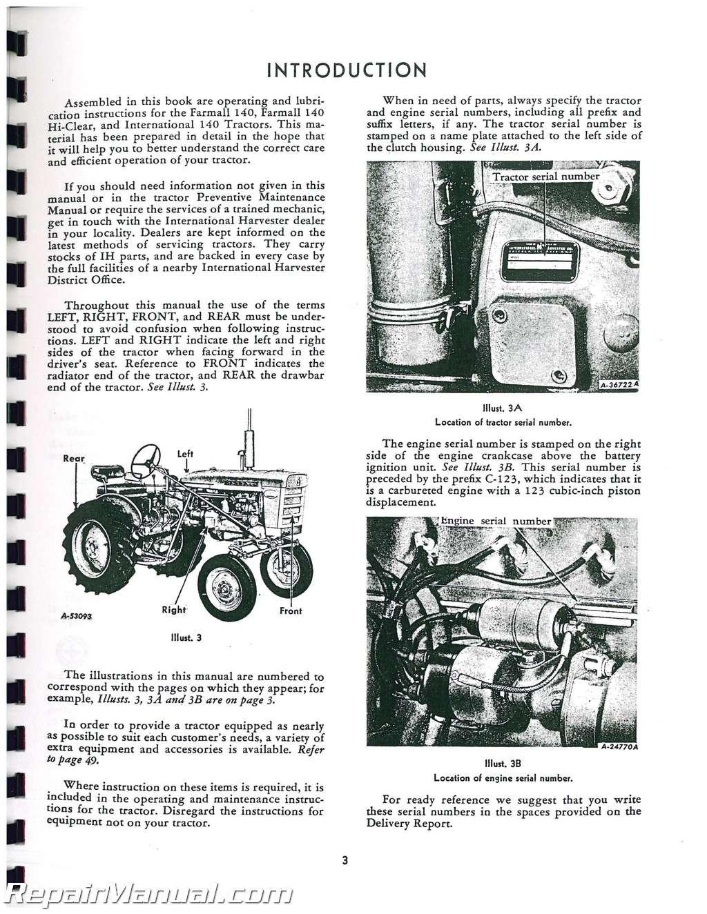 Ih Parts Manual