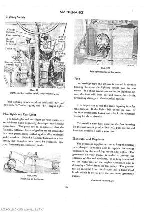 International Harvester Farmall Super MTA MVTA Operators Manual