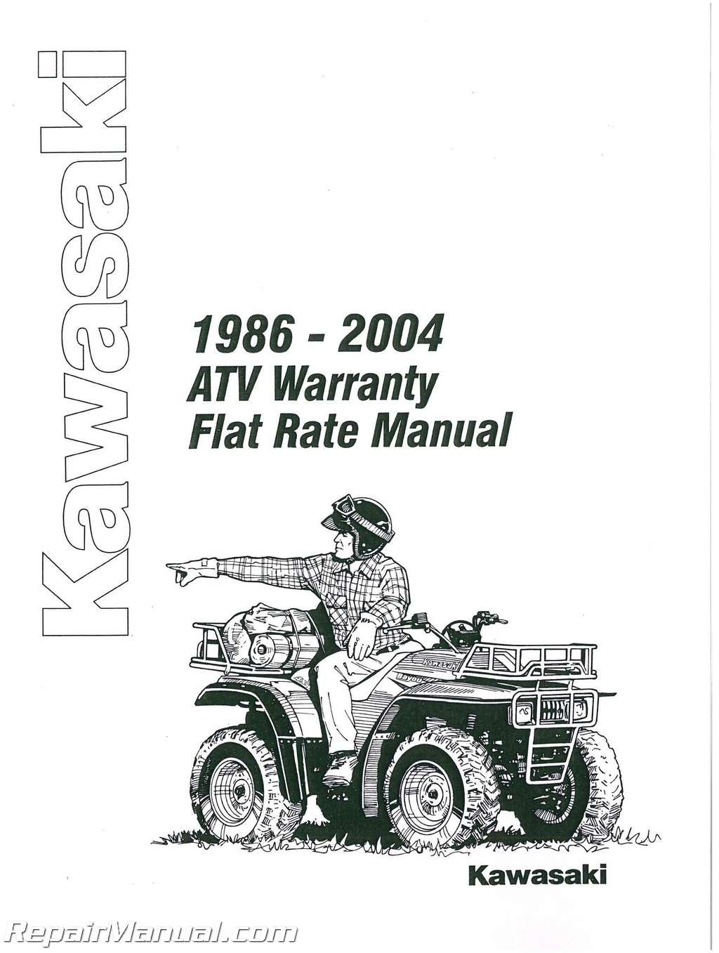 Kawasaki Atv Warranty Flat Rate Manual
