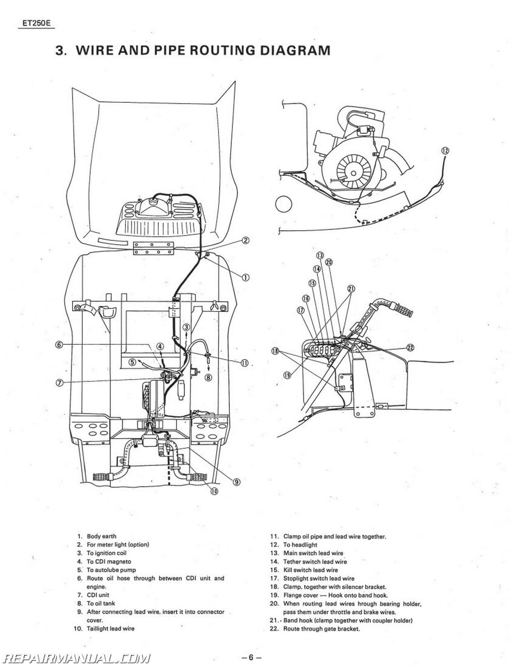 Yamaha Enticer Et250 Snowmobile Service Manual