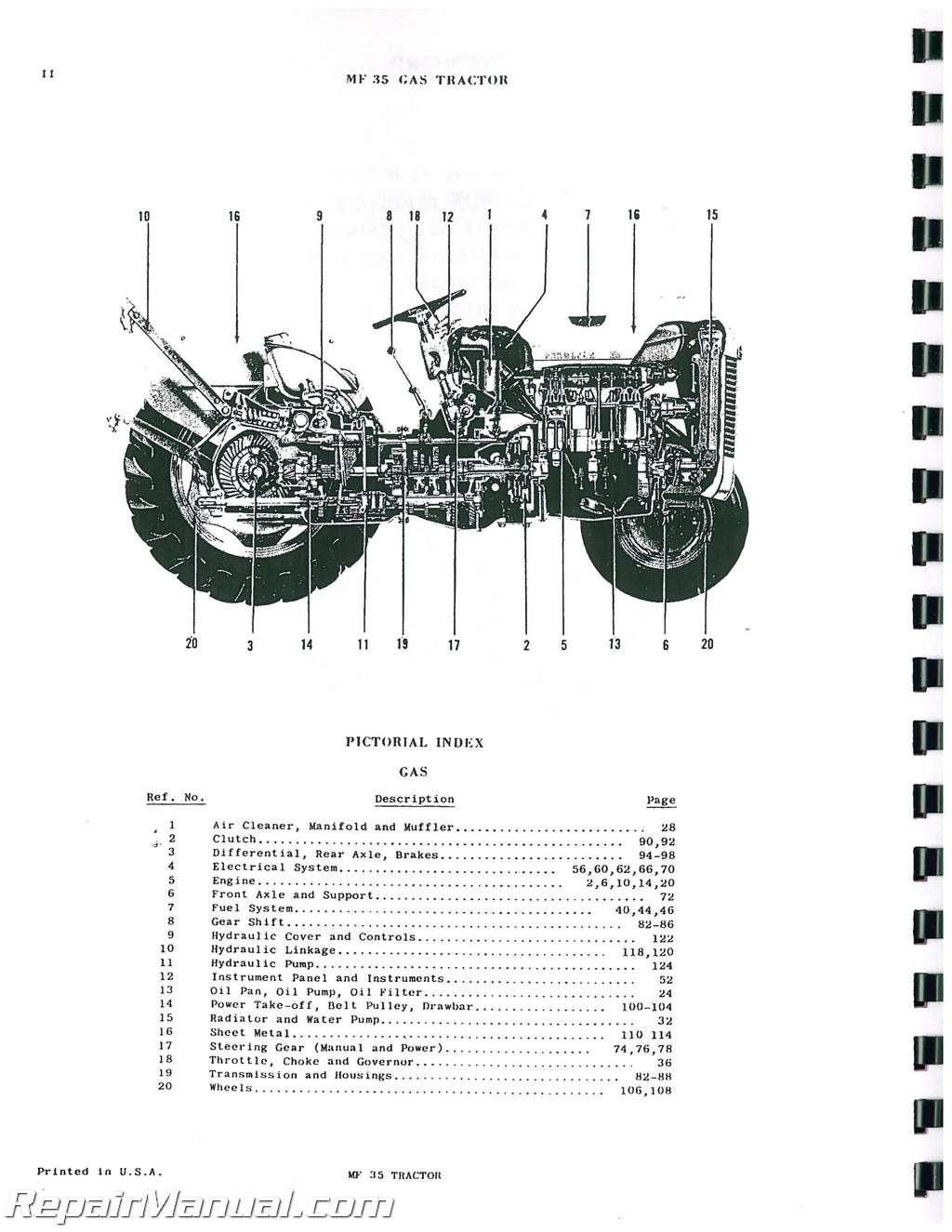 Massey Ferguson To35 Wiring Diagram