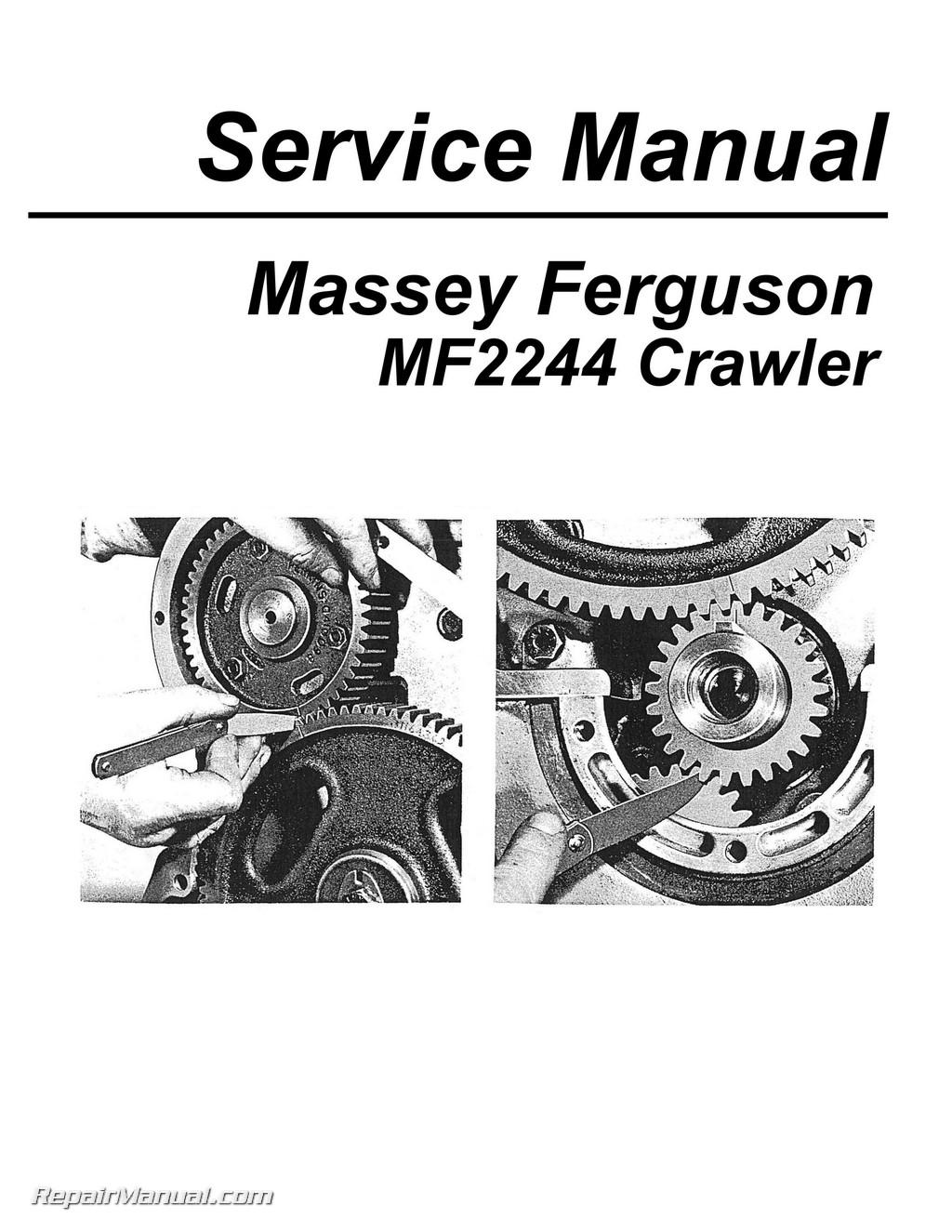 Massey Harris Ferguson Mf Crawler Service Manual