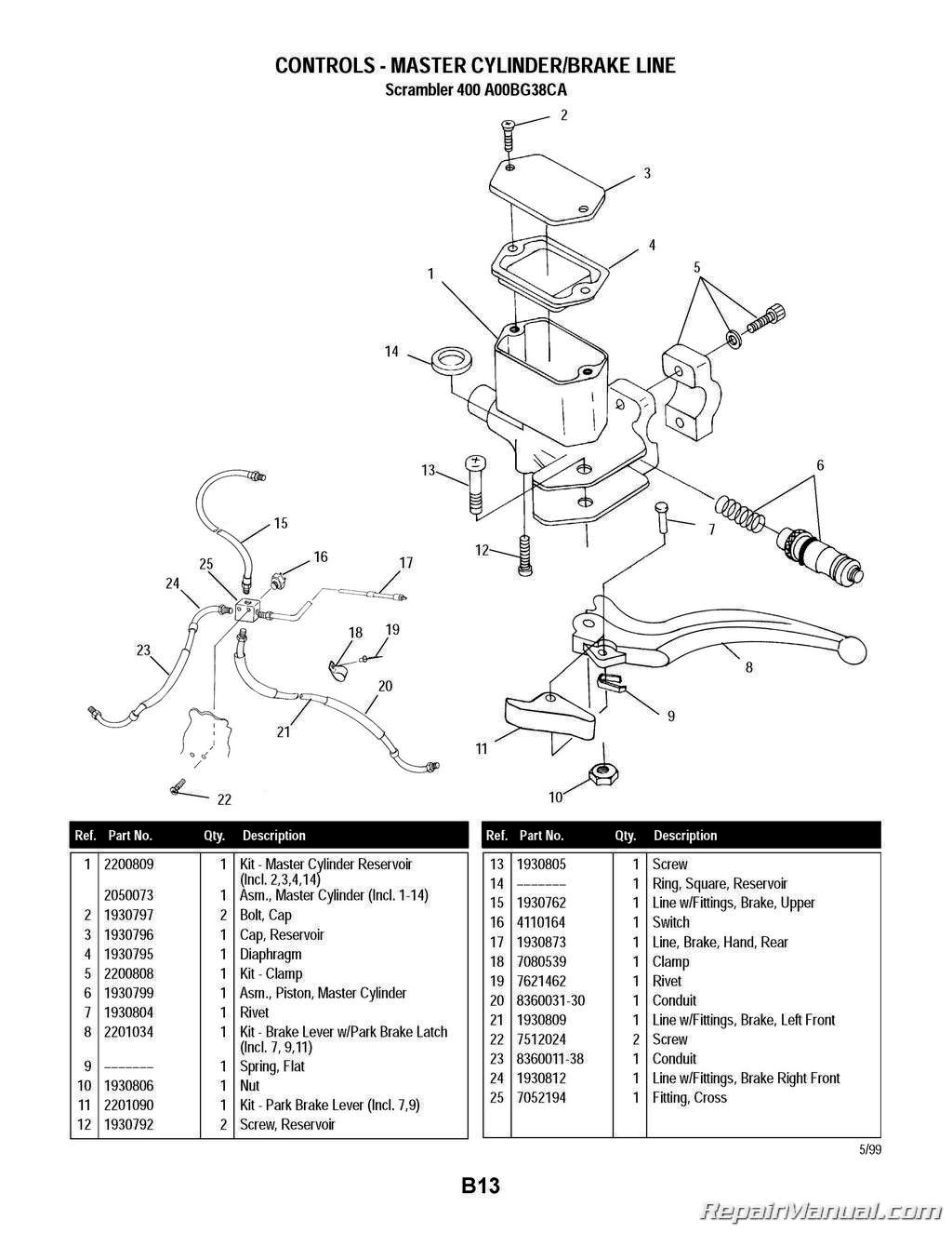 Polaris Sportsman 400 Parts Diagram