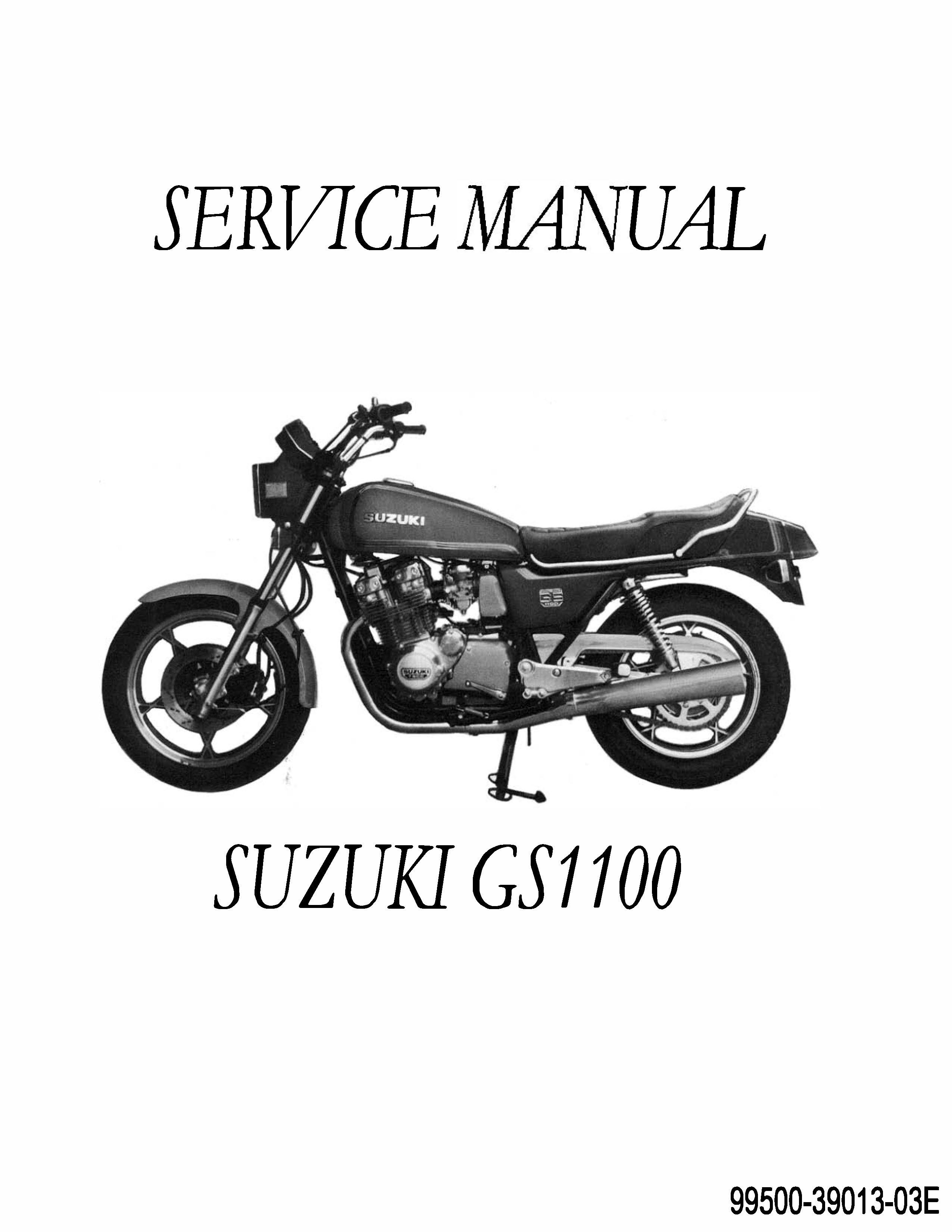 Suzuki Gs Motorcycle Repair Manual