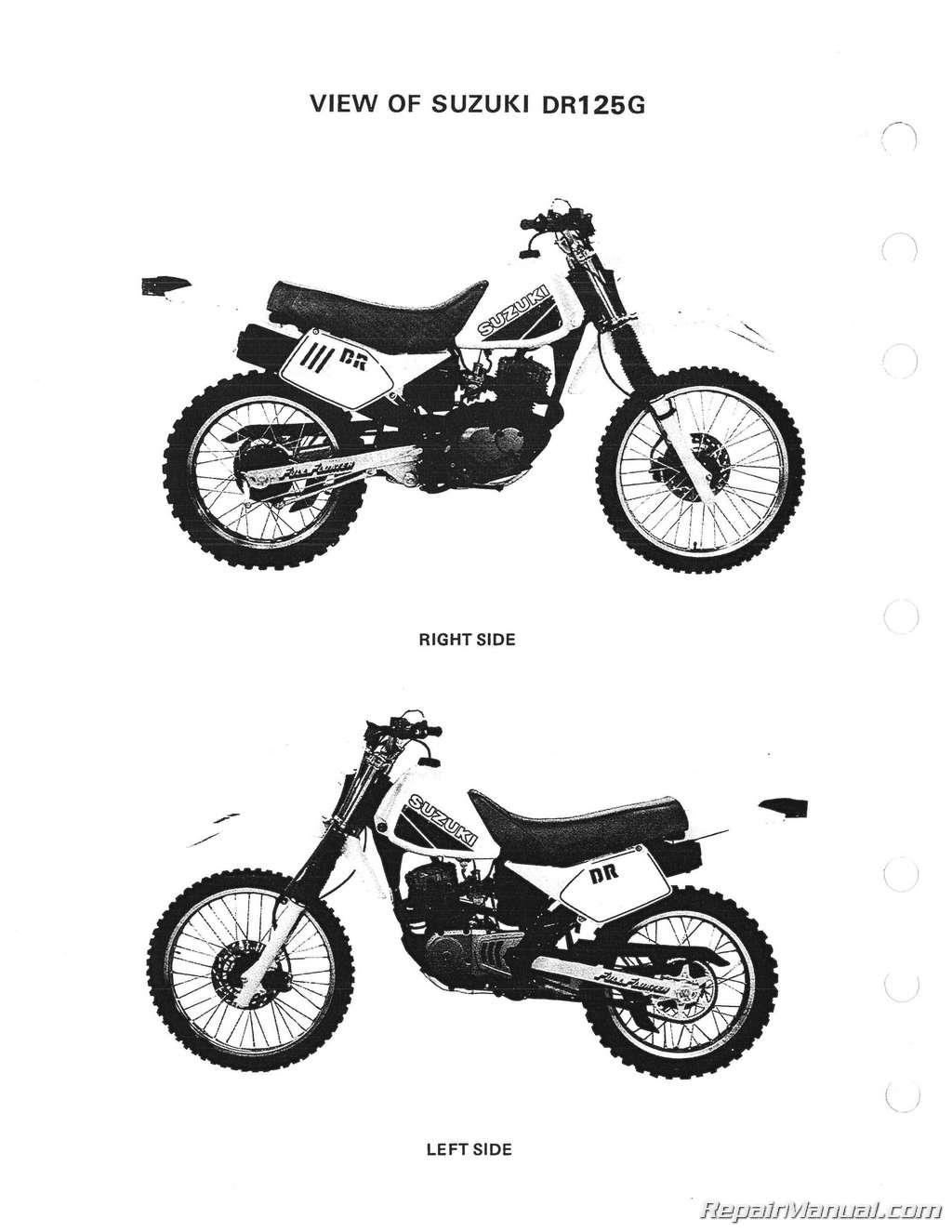 Suzuki Dr125 Sp125 Motorcycle Service