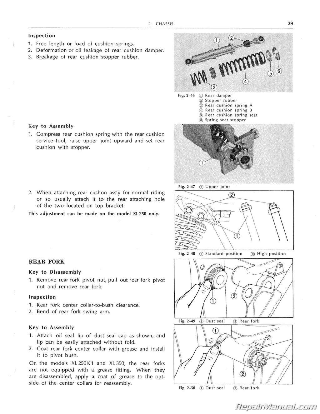 Honda Xl250 Xl350 Service Manual