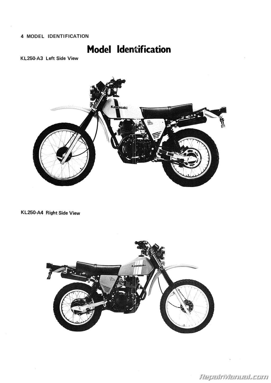 Kawasaki Kl250 Motorcycle Service Manual