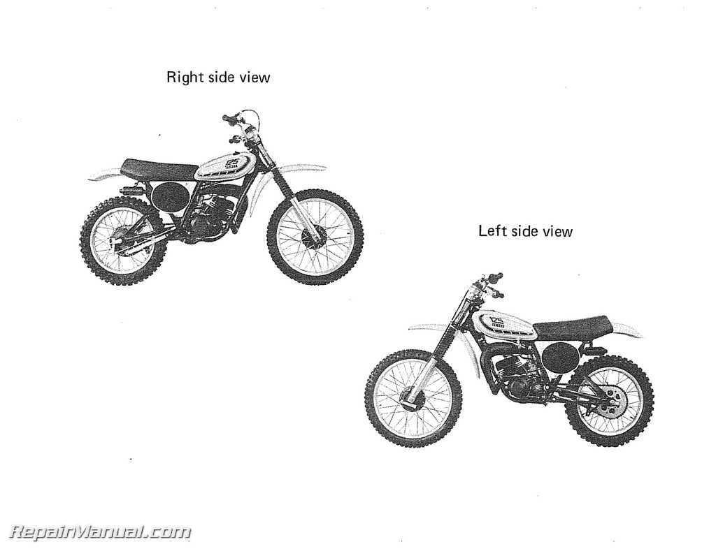 Yamaha Yz125x Motorcycle Owners Service Manual