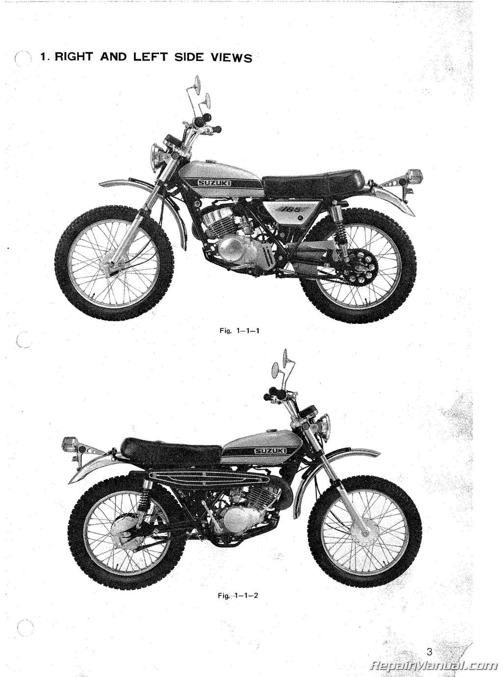 Suzuki Ts185 Sierra Supplemental Motorcycle