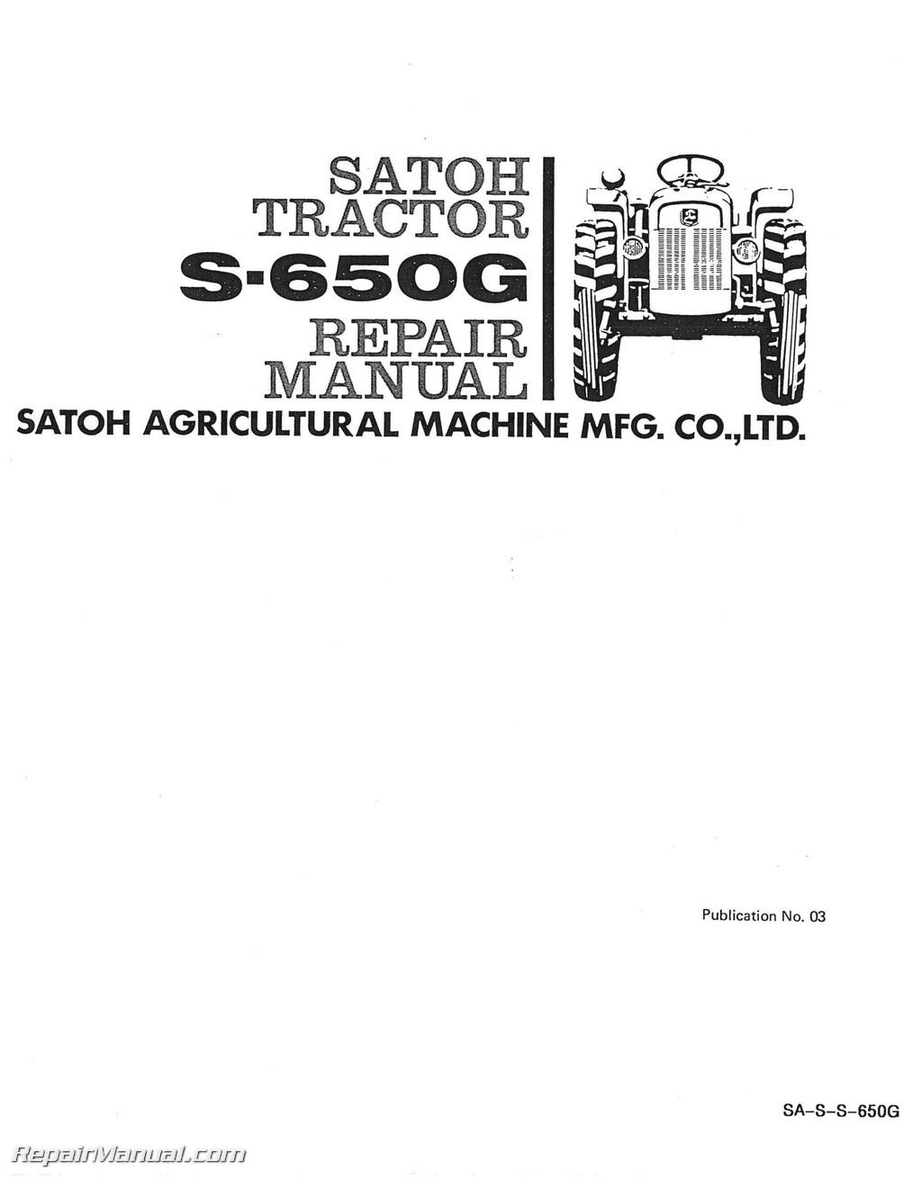 Satoh S650g Tractor Service Manual