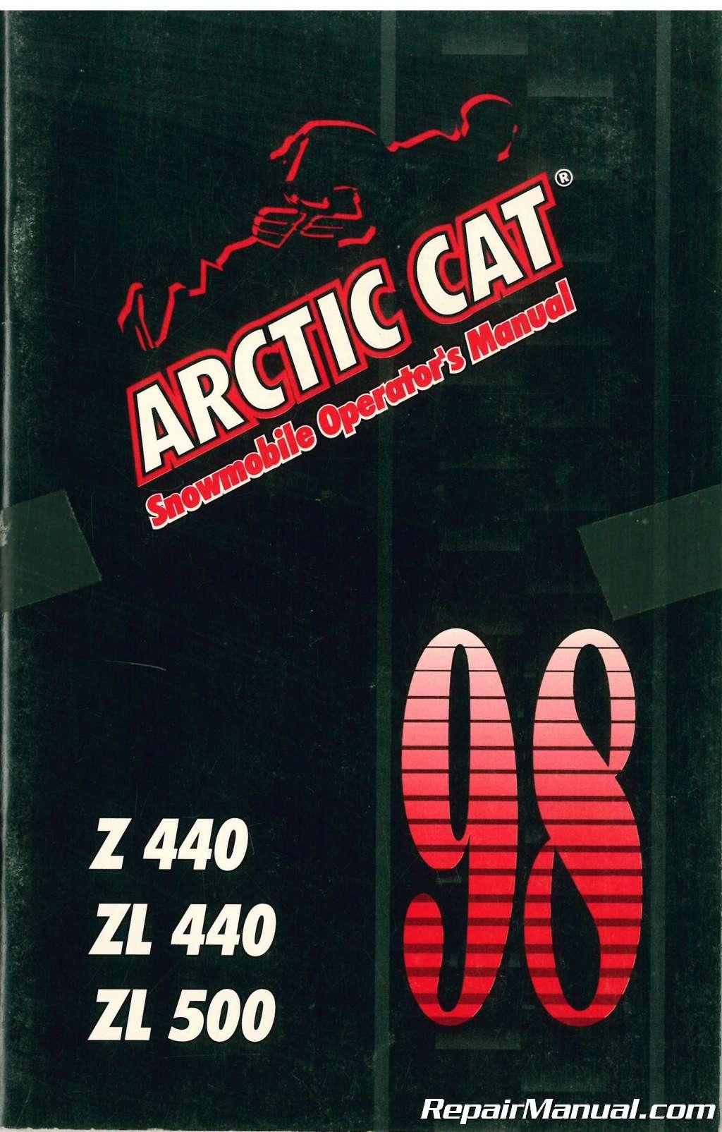1998 Arctic Cat 440 Z Snowmobile Zl Wiring Diagram