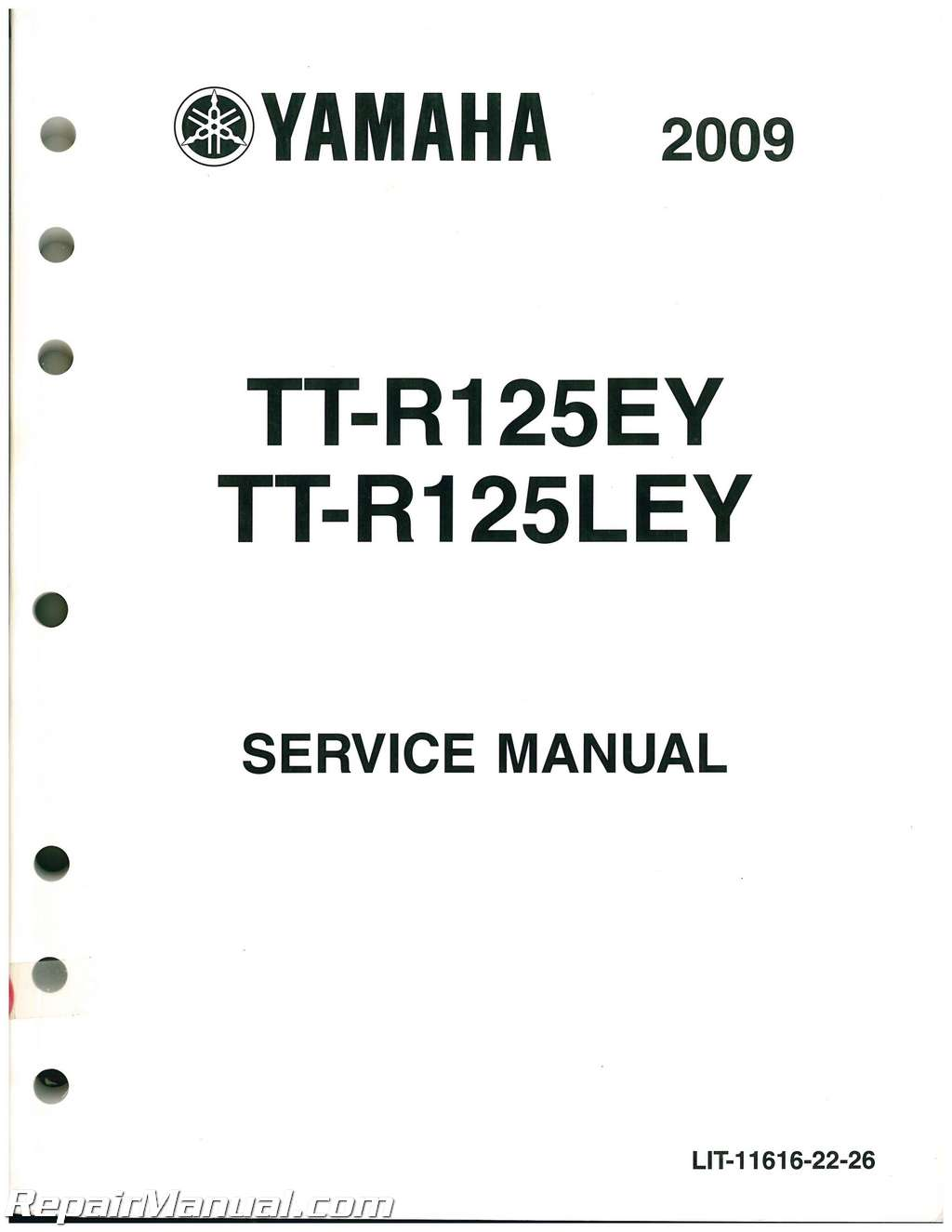 Used And Yamaha Ttr125e Le Service Manual