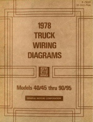 GMC Truck Wiring Diagrams Manual 1978 Used