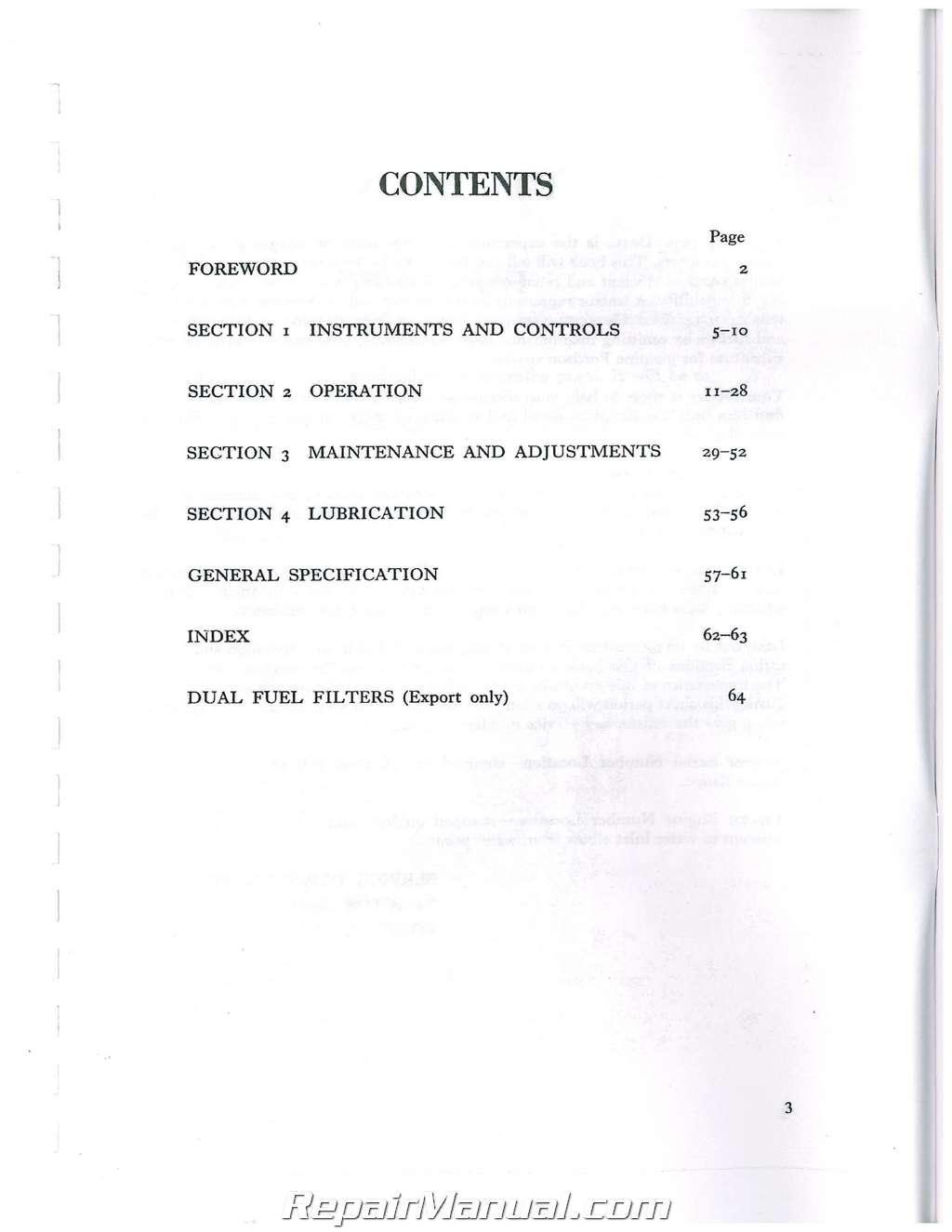 Fordson Dexta Super Dexta Operators Manual