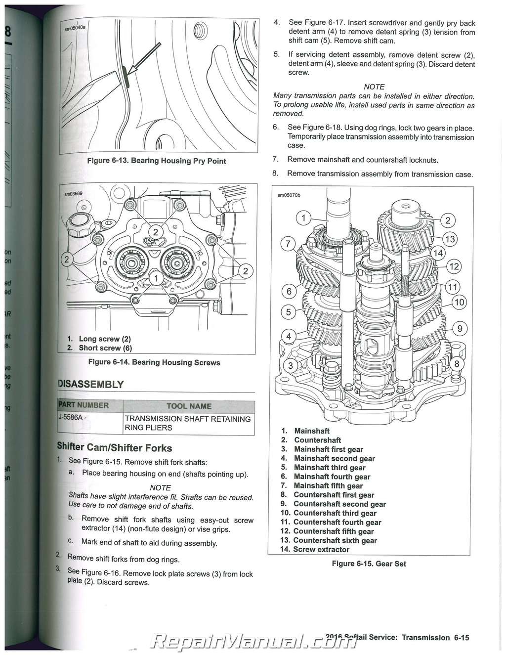 Harley Davidson Softail Motorcycle Service Manual