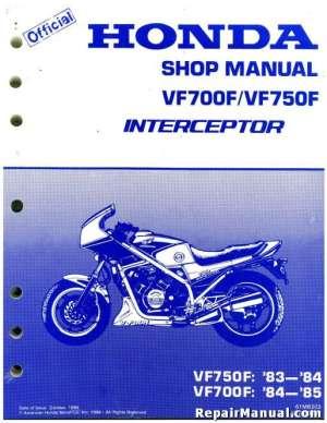 1983 1984 1985 Honda VF700F VF750F Interceptor Motorcycle