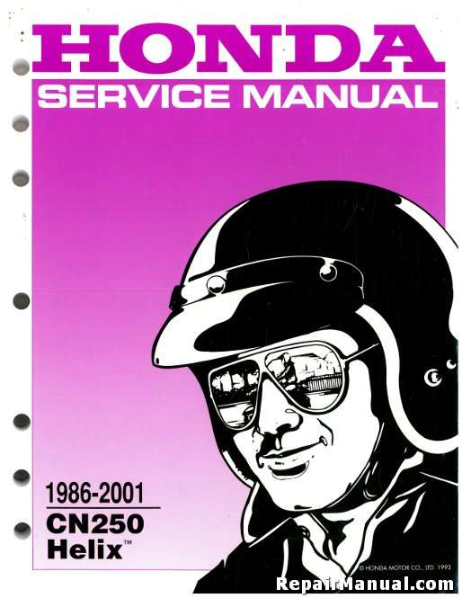 19862001 honda cn250 helix scooter service manual