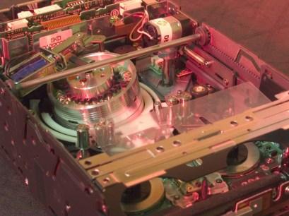A Sony AIT drive in our AIT repair service closeup