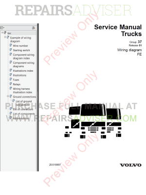 Volvo Trucks FE Wiring Diagrams Service Manuals PDF Download